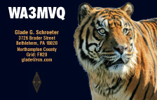QSL Card Style QSL20, Photo Credit: Save The Tiger Fund.