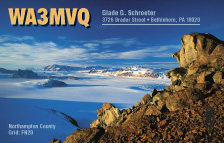 QSL Card Style QSL21, Hannes Grobe, Alfred Wegener Institute for Polar and Marine Research, Germany