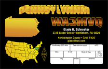 QSL Card Style QSL35, PA State DX QSL Card