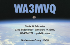 QSL Card Style QSL5, Moon-Set-over-Earth