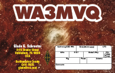 QSL Card Style QSL54 Photo Credit: NASA; ESA; Q.D. Wang (University of Massachusetts; Amherst); and S. Stolovy (Caltech)