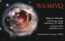 QSL Card Style QSL7, Red Supergiant Star V838 Monocerotis