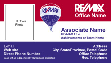 RM1 REMAX Tri Color Business Card - Photo
