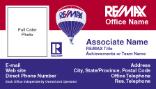 RM2 REMAX Tri Color Business Card - Photo w Realtor