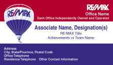 RM3 REMAX Tri Color Business Card wo Realtor